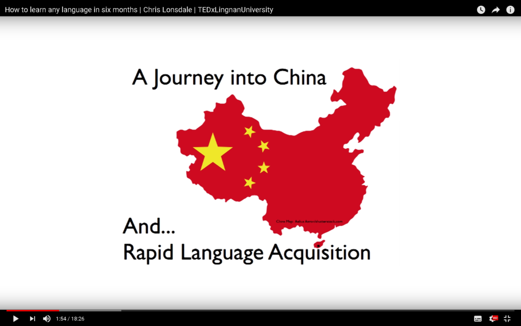 A journey to China and Rapid Language Acquisition