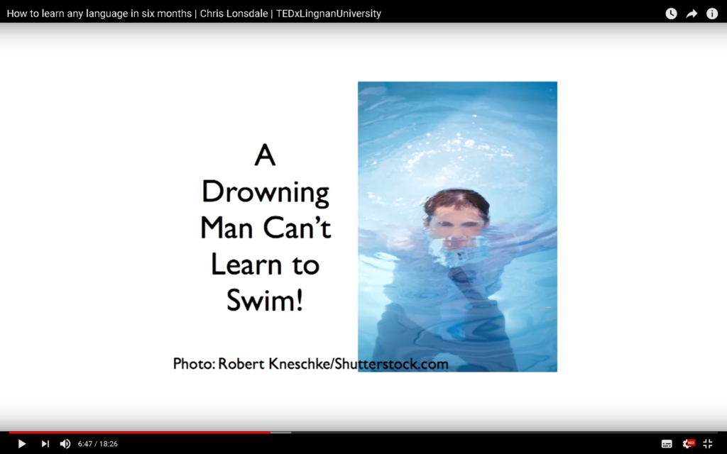 A drowing Man Can't Learn to swim.