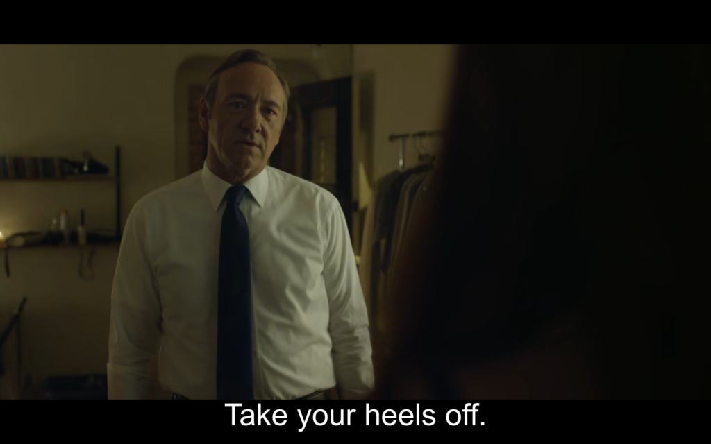 Take your heel off.