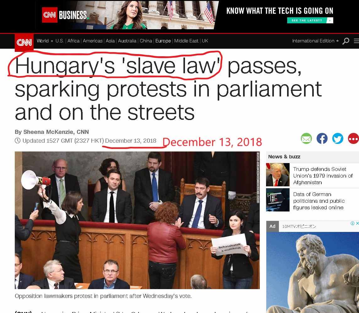 Hungary's Slave law