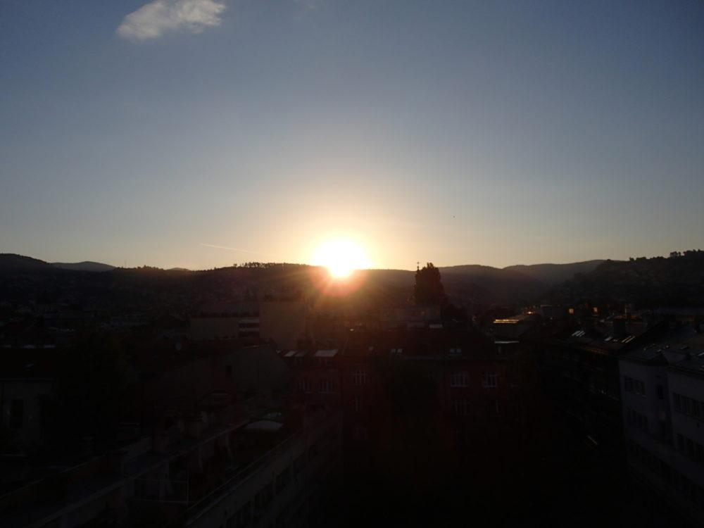 The Sun rising in Sarajevo.